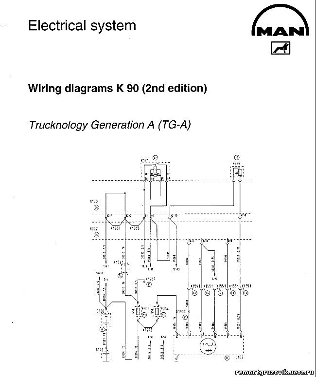 Электросхема MAN TGA